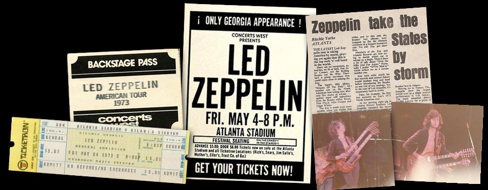 I played Atlanta Stadium with Led Zeppelin